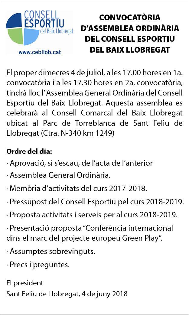 CONSELL ESPORTIU DEL BAIX LLOBREGAT