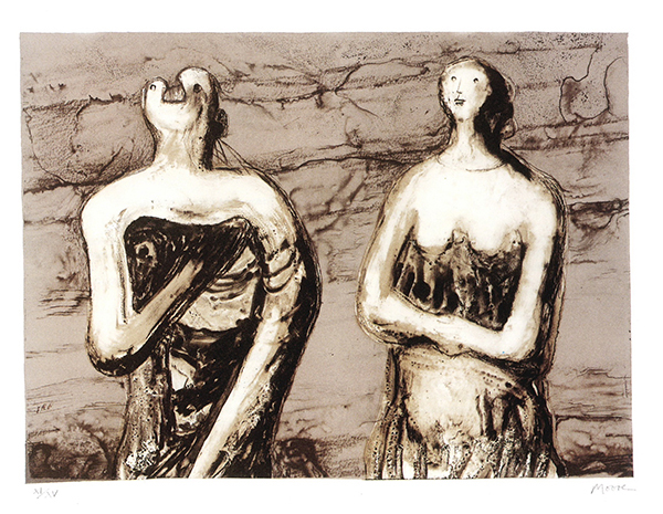 Henry Moore, Man and Woman, 1978